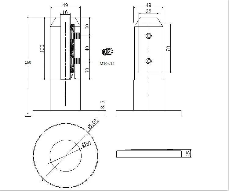 SS2205-Stainless-steel-glass-spigot-drawing